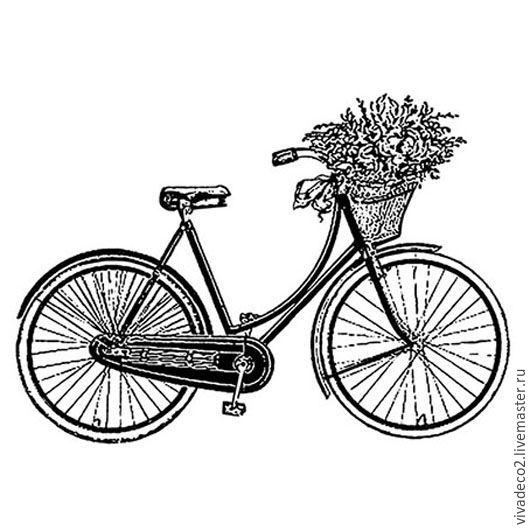 Штамп на резиновой основе HD `Велосипед`, 7 х 11 см  4/0