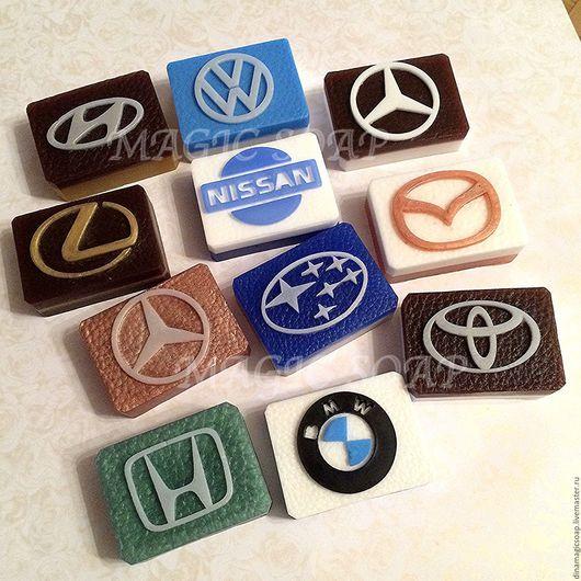 Мыло ручной работы. Ярмарка Мастеров - ручная работа. Купить мыло с Логотипами авто. Handmade. Комбинированный, мыло ручной работы