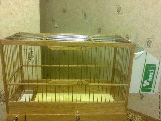 Для других животных, ручной работы. Ярмарка Мастеров - ручная работа. Купить Клетка из натурального дуба для птиц. Handmade. дуб