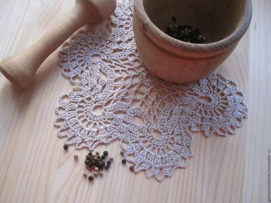 Текстиль, ковры ручной работы. Ярмарка Мастеров - ручная работа. Купить Салфетка № 184. Handmade. Бежевый, салфетка ажурная