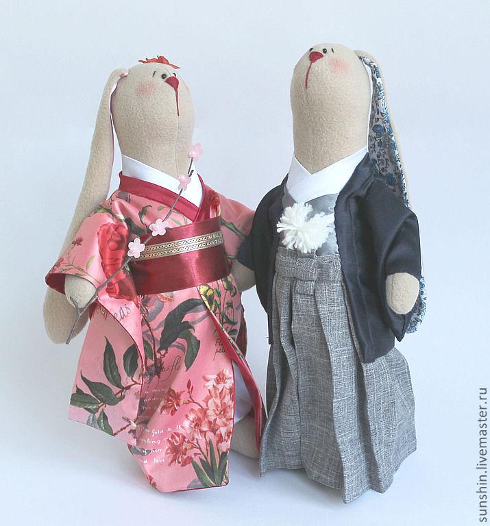 Мишки Тедди ручной работы. Ярмарка Мастеров - ручная работа. Купить Свадьба по японски. Handmade. Тильда, текстильная игрушка, синтепух
