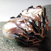 """Украшения ручной работы. Ярмарка Мастеров - ручная работа """"Baroque"""" кольцо серебро 925 крупной  барочной жемчужиной """"Барокко"""". Handmade."""