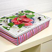 Для дома и интерьера ручной работы. Ярмарка Мастеров - ручная работа Столик-поднос на подушке в стиле шебби-шик (с вашей картинкой). Handmade.