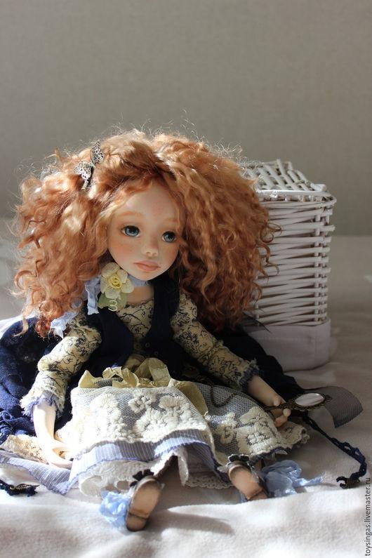 Коллекционные куклы ручной работы. Ярмарка Мастеров - ручная работа. Купить Августа / Augusta. Handmade. Тёмно-синий