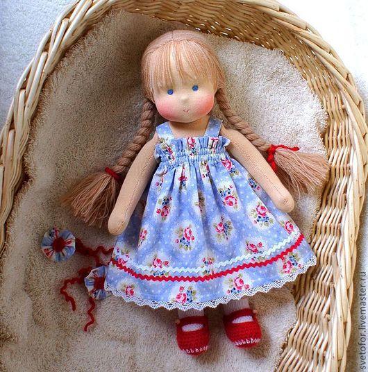 Вальдорфская игрушка ручной работы. Ярмарка Мастеров - ручная работа. Купить Анечка, 32 см. Handmade. Вальдорфская кукла, подарок