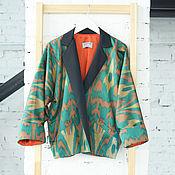 """Одежда ручной работы. Ярмарка Мастеров - ручная работа Жакет из адраса """"Изумрудный Дождь"""". Handmade."""