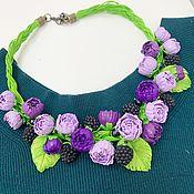 Украшения handmade. Livemaster - original item Necklace: Peonies with blackberries. Handmade.