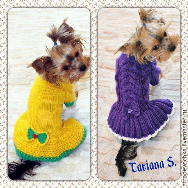 Платье для собаки мастер класс