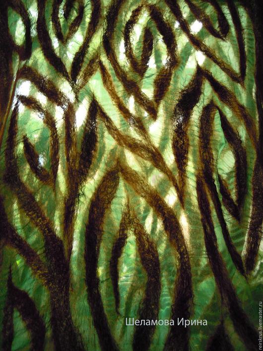 """Шарфы и шарфики ручной работы. Ярмарка Мастеров - ручная работа. Купить шарф валяный """"Сказки  Шахерезады"""". Handmade. Тёмно-зелёный"""