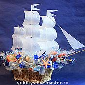"""Сувениры и подарки ручной работы. Ярмарка Мастеров - ручная работа Букет из конфет """"Попутного ветра"""". Handmade."""
