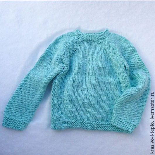 """Одежда для девочек, ручной работы. Ярмарка Мастеров - ручная работа. Купить Свитер детский """"Шелковая мята"""". Handmade. Мятный, свитер"""