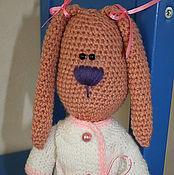 Куклы и игрушки ручной работы. Ярмарка Мастеров - ручная работа Зайка в белой кофточке. Handmade.