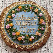 """Сувениры и подарки ручной работы. Ярмарка Мастеров - ручная работа Пряник """"Цветы для мамы"""". Handmade."""