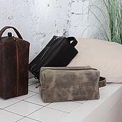 Сумки и аксессуары handmade. Livemaster - original item Dressing case, cosmetic bag made of genuine leather SMALL. Handmade.