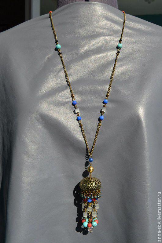 """Комплекты украшений ручной работы. Ярмарка Мастеров - ручная работа. Купить Ожерелье """"Индия"""" Этно. Handmade. Designer jewelry"""