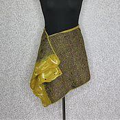 Одежда handmade. Livemaster - original item Felted transformer skirt, poncho... Natural silk and wool. Handmade.