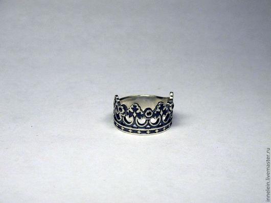 """Кольца ручной работы. Ярмарка Мастеров - ручная работа. Купить Серебряное кольцо """"Корона 3"""". Handmade. Серебряный, корона, принцесса"""