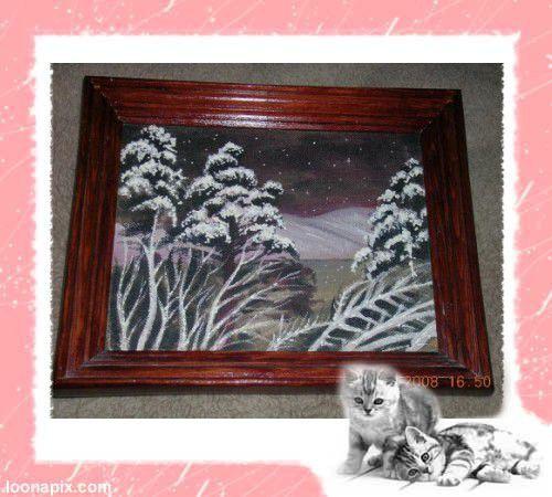 """Пейзаж ручной работы. Ярмарка Мастеров - ручная работа. Купить картина""""ветер в ночи"""". Handmade. Лак"""