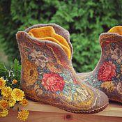 """Обувь ручной работы. Ярмарка Мастеров - ручная работа Чуни """"Душевный разговор"""". Handmade."""