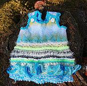Работы для детей, handmade. Livemaster - original item Warm baby dress. Felt baby dress. Felted baby dress Frosty morning. Handmade.