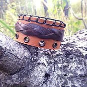 Украшения handmade. Livemaster - original item A leather bracelet Lock. Handmade.