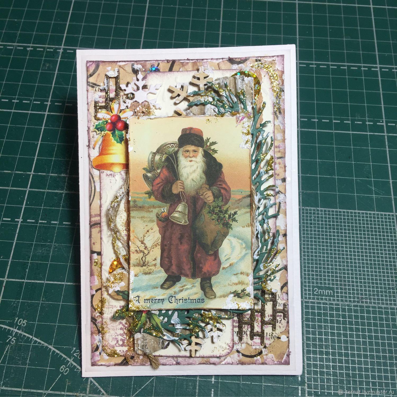 Новогодняя или рождественская открытка. Открытка ручной работы. Лесная, Открытки, Санкт-Петербург,  Фото №1