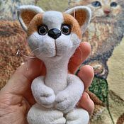 Куклы и игрушки ручной работы. Ярмарка Мастеров - ручная работа Котик в ладошке.. Handmade.