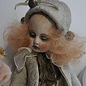 Куклы и игрушки ручной работы. Ярмарка Мастеров - ручная работа Старый театр. Пьеретта на заказ!. Handmade.