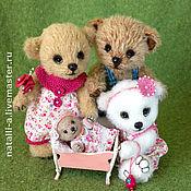 Куклы и игрушки ручной работы. Ярмарка Мастеров - ручная работа семья медведей. Handmade.