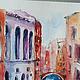 Город ручной работы. Заказать Лазурная Венеция. K&ART. Ярмарка Мастеров. Кирпичный, канал в венеции, венецианский карнавал, картина венеция