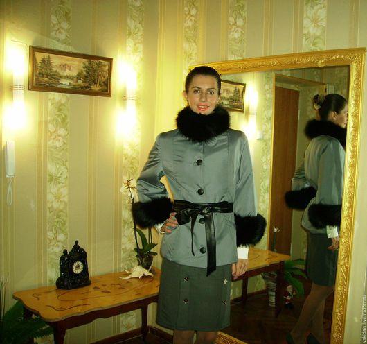 Верхняя одежда ручной работы. Ярмарка Мастеров - ручная работа. Купить Куртка из плащёвки с лисой. Handmade. Куртка женская