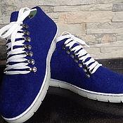 """Обувь ручной работы. Ярмарка Мастеров - ручная работа Валяные кеды """"Индиго"""". Handmade."""