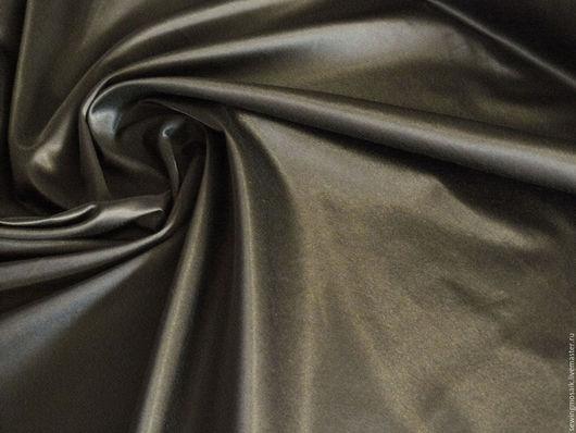 Шитье ручной работы. Ярмарка Мастеров - ручная работа. Купить Итальянская ткань сатин 100% хлопок цвета темный хаки.. Handmade.