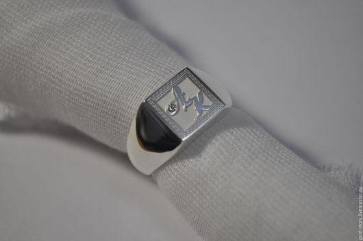 Кольца ручной работы. Ярмарка Мастеров - ручная работа. Купить Перстень серебряный с  личной монограммой. Handmade. Серебряный, с личной мограммой