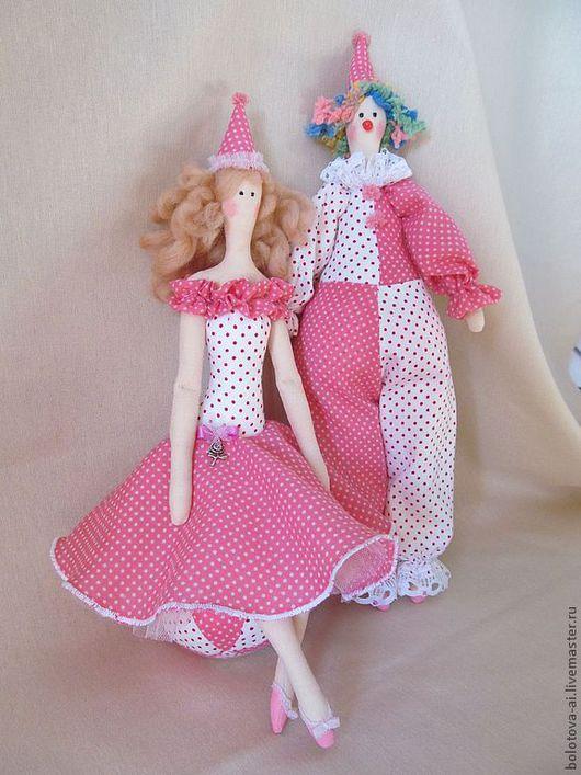 Куклы Тильды ручной работы. Ярмарка Мастеров - ручная работа. Купить Комплект Цирк в стиле Тильда. Handmade. Розовый, бязь