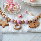 Куклы и игрушки handmade. Livemaster - original item Stretching in a wheelchair, stretching in the crib with a star and whale. Handmade.