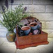 Для дома и интерьера ручной работы. Ярмарка Мастеров - ручная работа Подставка под чайные пакетики. Handmade.
