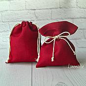 Свадебный салон handmade. Livemaster - original item Bags, linen cotton red. Handmade.
