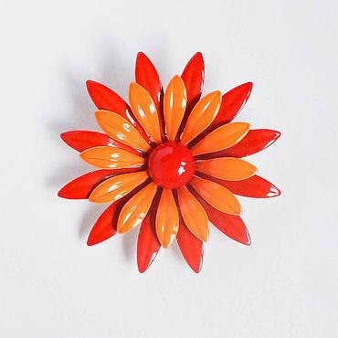 Винтаж ручной работы. Ярмарка Мастеров - ручная работа Брошь-цветок в стиле pin-up. Handmade.