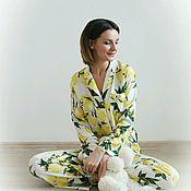 Одежда handmade. Livemaster - original item Women`s pyjamas set bow family