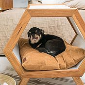 Аксессуары для питомцев ручной работы. Ярмарка Мастеров - ручная работа Кровать, домик для собаки Eco Progect Wood. Handmade.