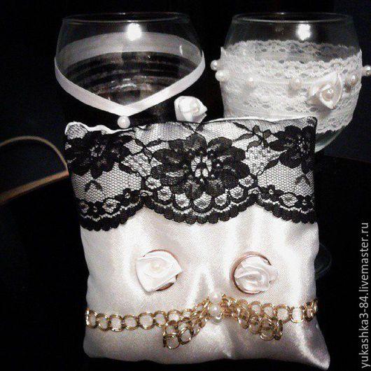 Свадебные аксессуары ручной работы. Ярмарка Мастеров - ручная работа. Купить подушечки для колец. Handmade. Подушечка для колец, подарок на свадьбу