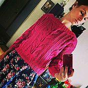 Одежда handmade. Livemaster - original item Crimson pullover cotton. Handmade.