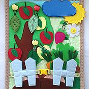 """Куклы и игрушки ручной работы. Ярмарка Мастеров - ручная работа Развивающий планшет """"Урожай"""". Handmade."""