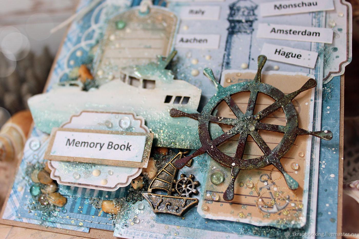 Поздравление именины, открытки в морском стиле ручной работы