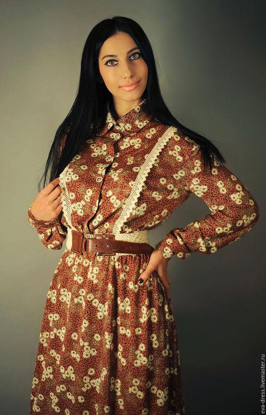 """Платья ручной работы. Ярмарка Мастеров - ручная работа. Купить Платье трикотажное длинное """"Цветочное бордо"""". Handmade. Бордовый"""