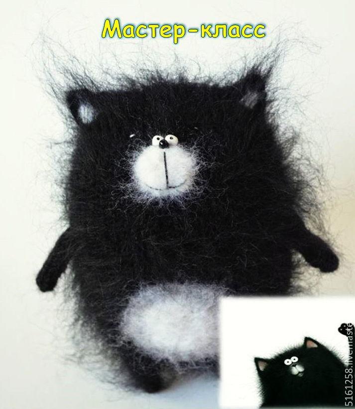 Кот Шмяк Мастер Класс спицами Вязаный котик игрушка ...