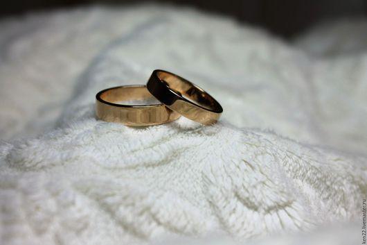 Кольца ручной работы. Ярмарка Мастеров - ручная работа. Купить Обручальные кольца из золота 585 пробы. Handmade. Желтый