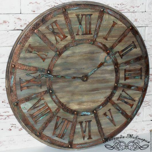 """Часы для дома ручной работы. Ярмарка Мастеров - ручная работа. Купить Часы настенные 50см """"Western"""". Handmade. Часы настенные"""