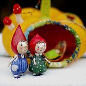 Куклы и игрушки ручной работы. Ярмарка Мастеров - ручная работа Семейство гномиков. Handmade.